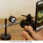 Celular capta imagem de fundo de olho
